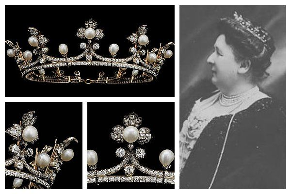 This is the trefoil coronet of the last Countess of Flanders, who was born Princess Marie of Hohenzollern.  The tiara was made in 1830, and ...