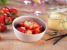 Jordbær med vaniljesaus