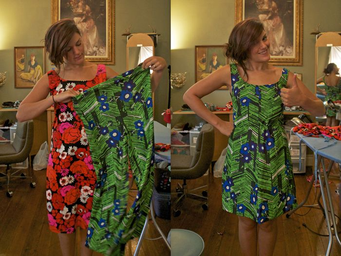 used pants to make dress sooo cute! Sally Ann: Kangaroo Dress Makeover