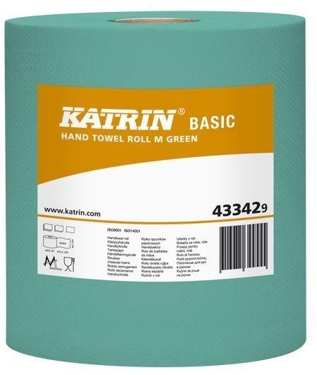 Prosoape de hartie rola Katrin Basic M Green, 1 strat, culoare verde.