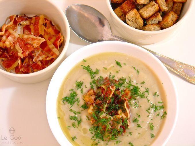 Supa crema de conopida - usoara, lejera, gustoasa (Cauliflower soup - easy, light, tasty)