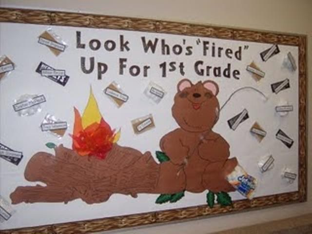 Fired Up For First Grade Bulletin Board Idea