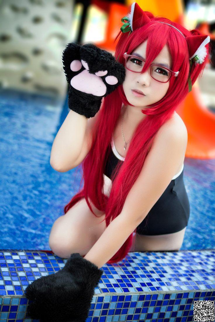 Neko girl cosplay costume