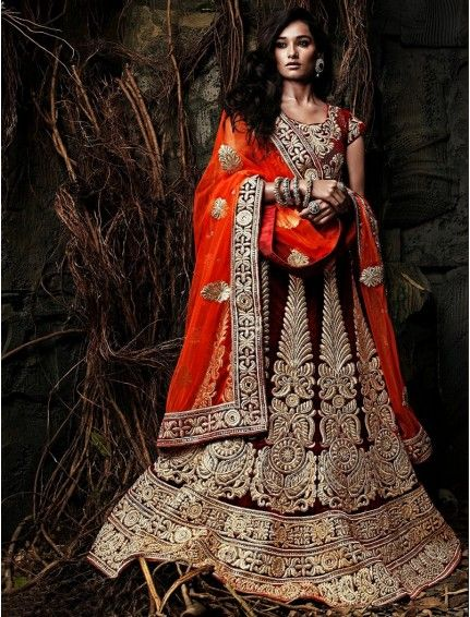 Embroidered Semi-stitched Lehenga Product code: SFJS76001