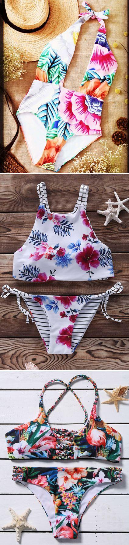 Blossoming Chic: The new season flora print | swimwear,bikini,one pieces,dress,dresses,tops,women fashion | #Floral print