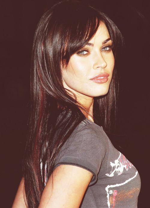 Megan Fox...if I should ever get bangs....contemplating