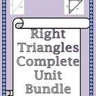 This a Bundle of my entire Right Triangles Unit.  It uncludes:  30 60 90 Special Right Triangles Notes and Practice. 45 45 90 Special Right Triangl...