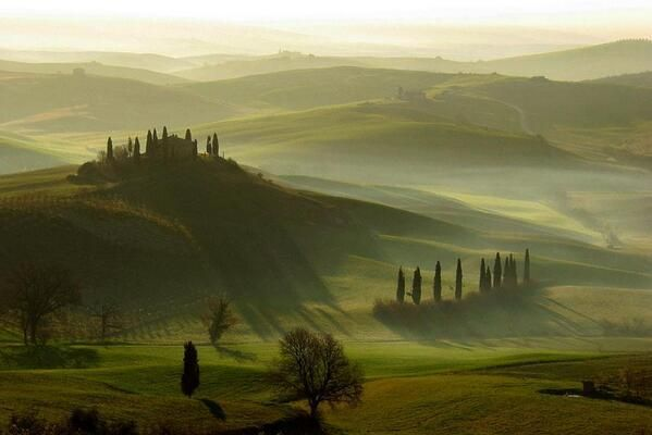 Val d'Orcia, Toscana, Italia. ¡Qué barbaridad!