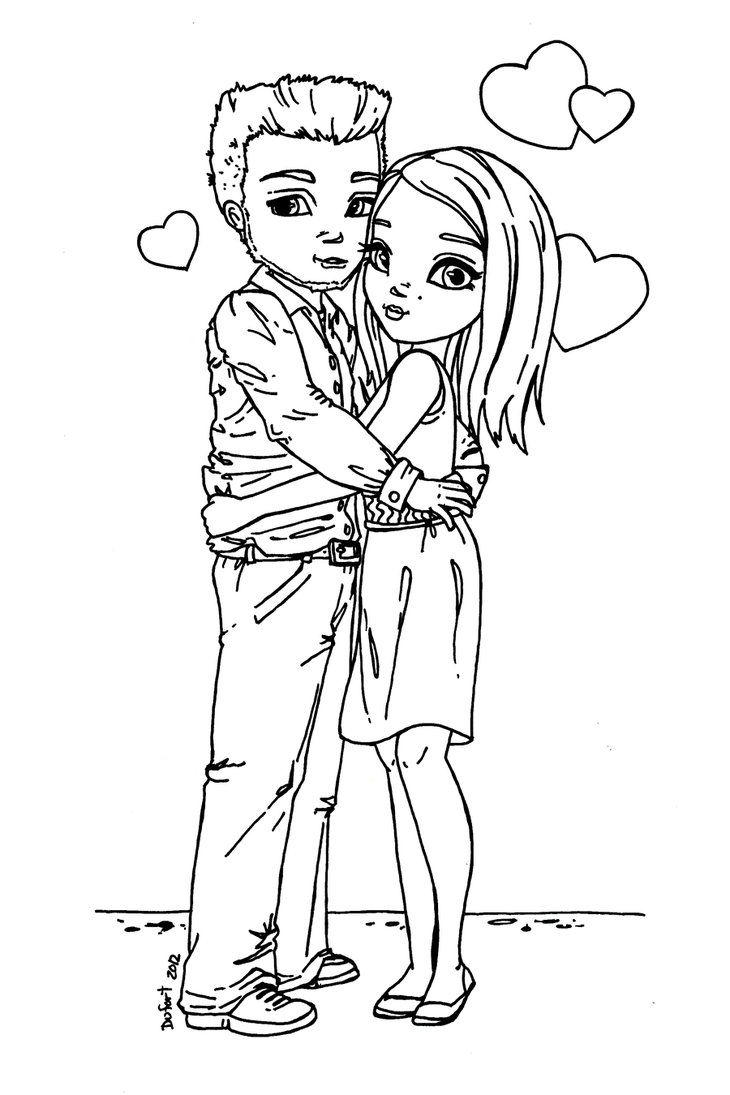 coloring pages of couples - 17 best images about jadedragonne on pinterest gel pens