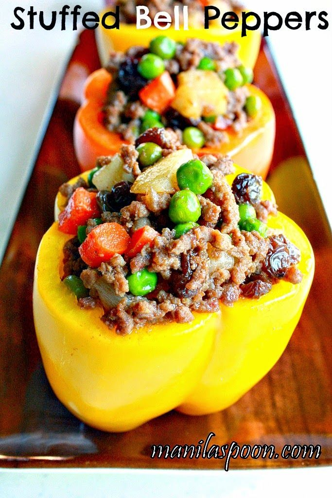345 best proudly filipino images on pinterest filipino recipes manila spoon stuffed bell peppers pinoy style all done on the stove top and also gluten free delish of course forumfinder Gallery
