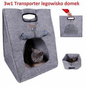 3w1! TRANSPORTER  LEGOWISKO BUDKA DOMEK DLA KOTA