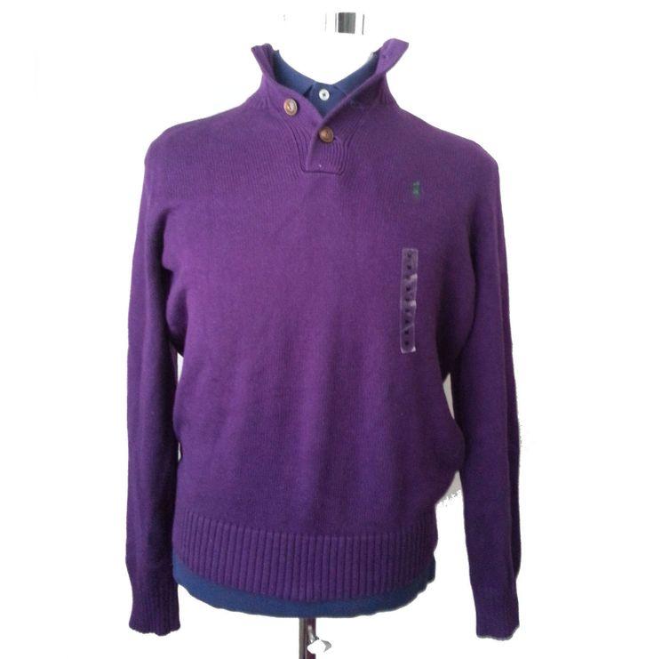 #ebay sale POLO Ralph Lauren men's size M Henley Style cotton Purple Collor sweater RalphLauren withing our EBAY store at  http://stores.ebay.com/esquirestore