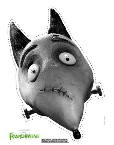 Máscaras de Frankenweenie para Halloween | #paratorpes #halloween #frankenweenie #mascaras #disfraz