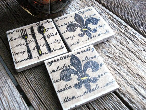 Louisiana Inspired Fleur De Lis Decorative Magnets Set of (3)