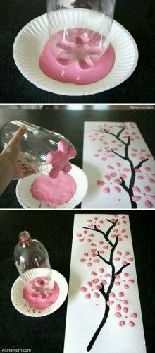 Decorazioni floreali con una bottiglia