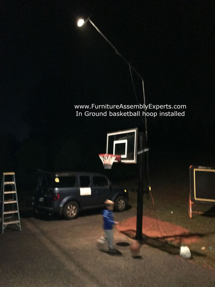 In ground portable basketball hoop installation completed in chantilly Virginia. We service: Washington DC - Maryland - VirginiaWe install in ground basketball hoop from walmart, amazon, wayfair, costco, lifetime, spalding and many more stores in Washington DC, Baltimore, Maryland and Virginia. For portable basketball hoop assembly service request Call (240) 764-6143