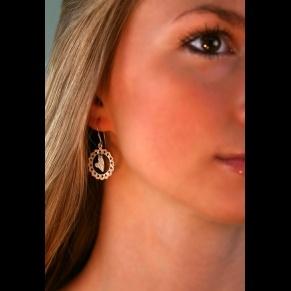 STERLING SILVER EARRINGS, HEARTS: Sterling Silver Earrings, Gifts, Stones