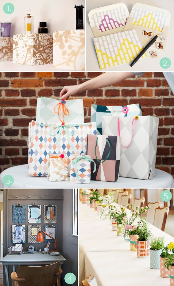 5 unexpected (and totally awesome) uses for leftover wallpaper! #DIY