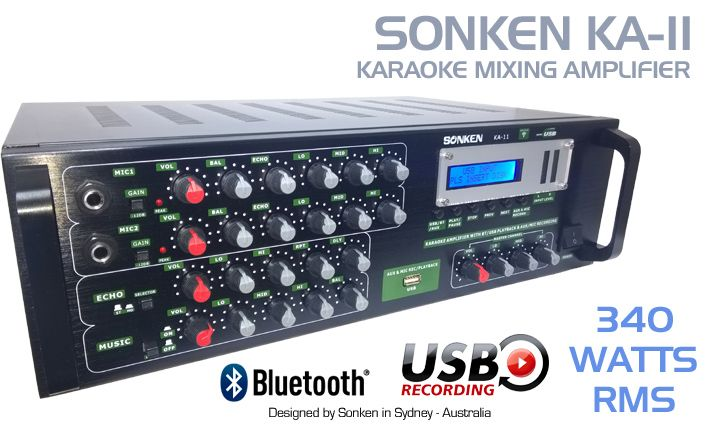 Sonken KA-11 Karaoke Mixing Amplifier now with Bluetooth and USB Vocal Record