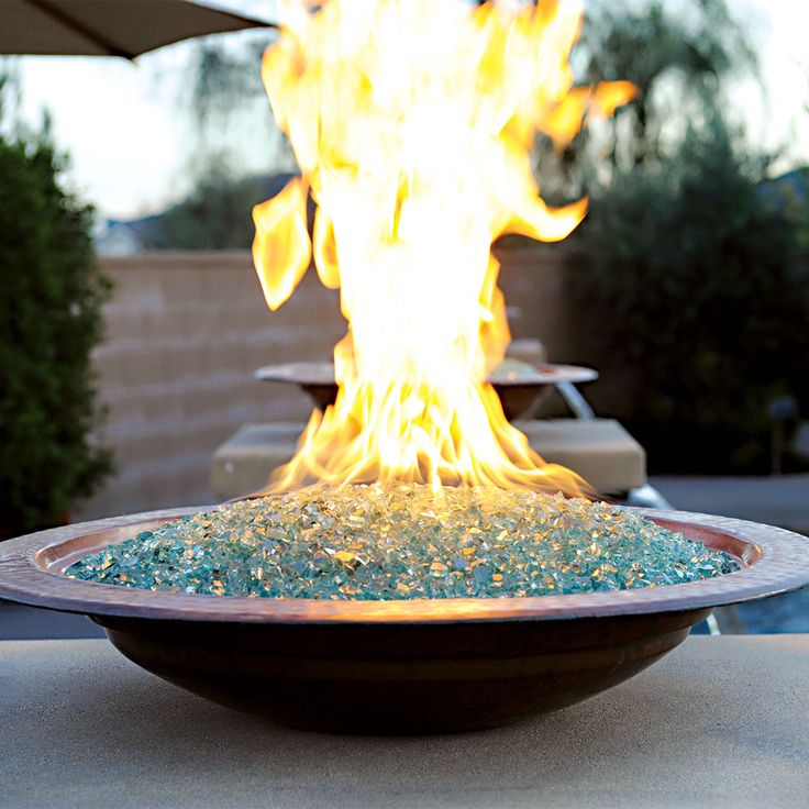Fire Bowl For Tabletop Or Custom Structure | Neutral Glass