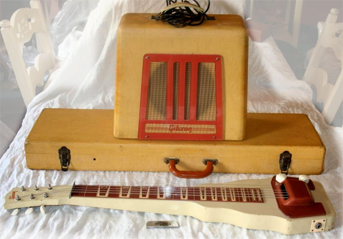 Vintage Gibson lap steel with matching amp...