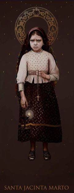 St. Jacinta, one of three children who saw Our Lady of Fatima in 1917, in Portugal