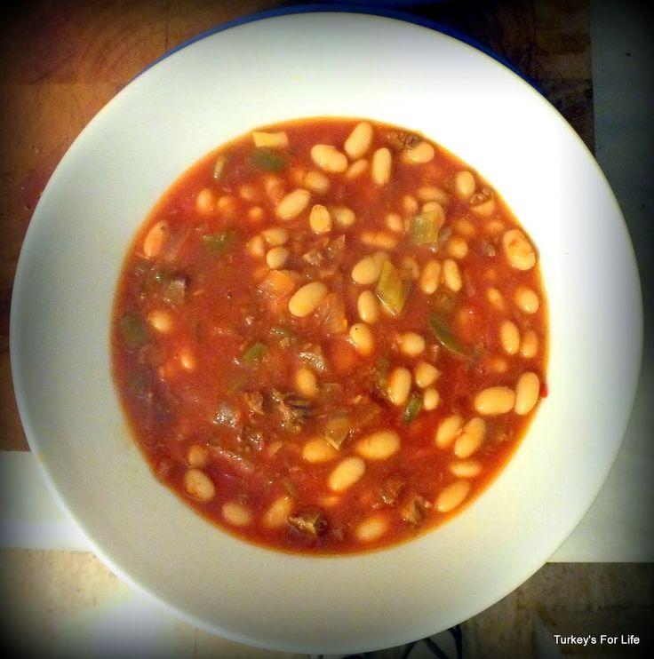 Quick Etli Kuru Fasulye - White bean stew with braised meat