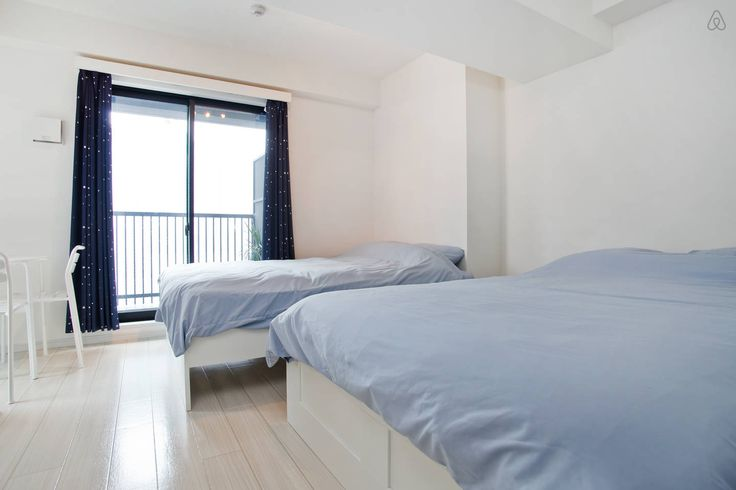 2 double beds, if needed we can provide a baby crib for a one off fee of 3,000yen