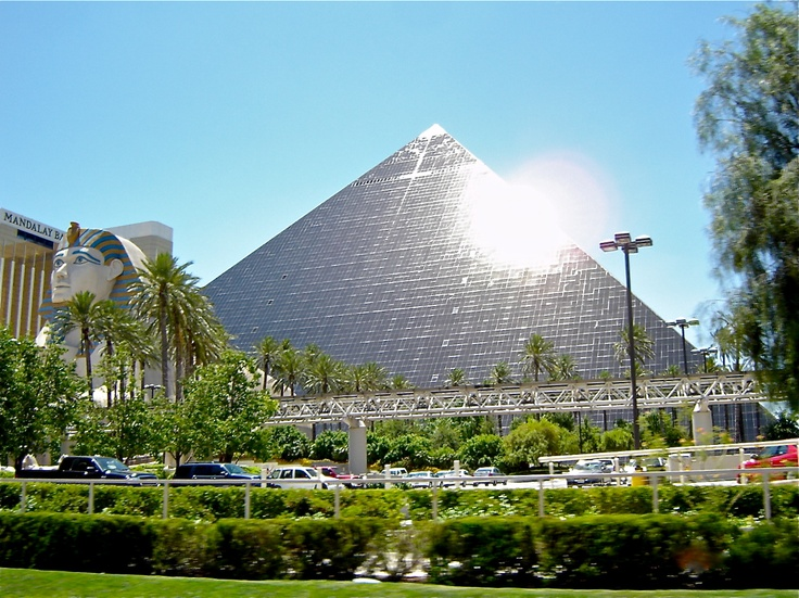 Panoramic Images - Statue in front of a hotel, Luxor Las