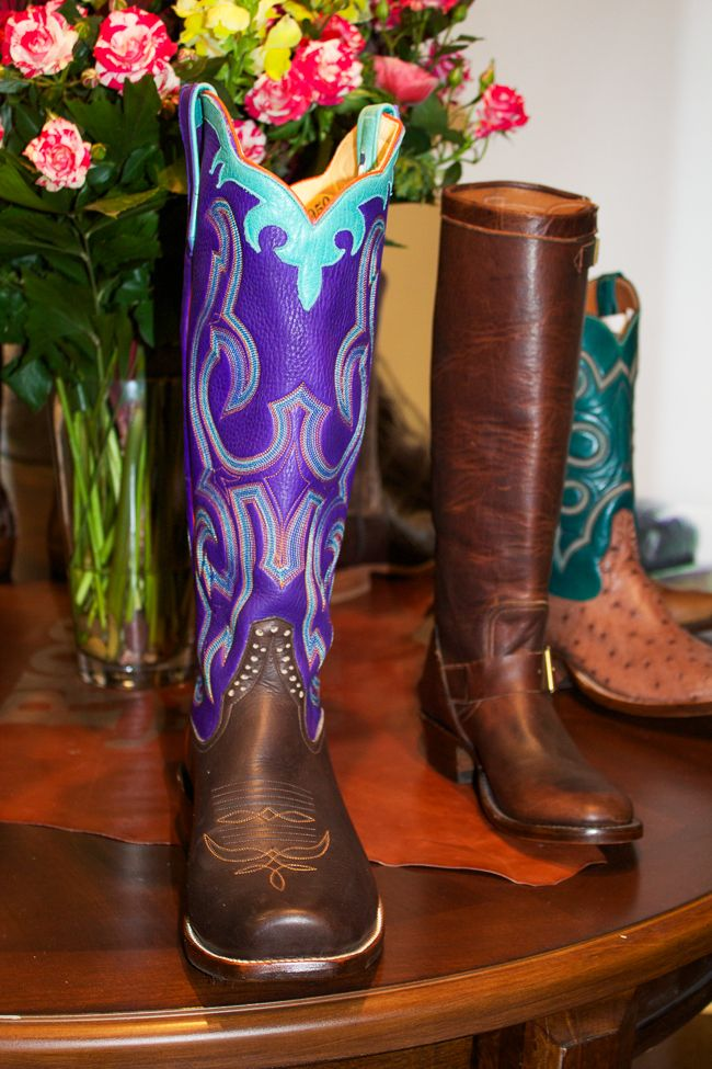 Rios of Mercedes Purple cowboy boots