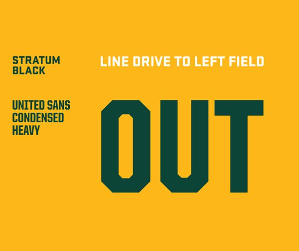Oakland A's: Green Collar Baseball on Behance