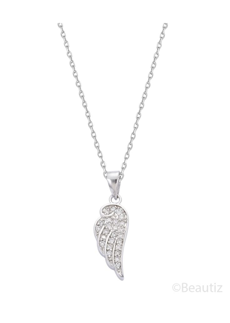 Souffle d'ange Silver Necklace by Beautiz