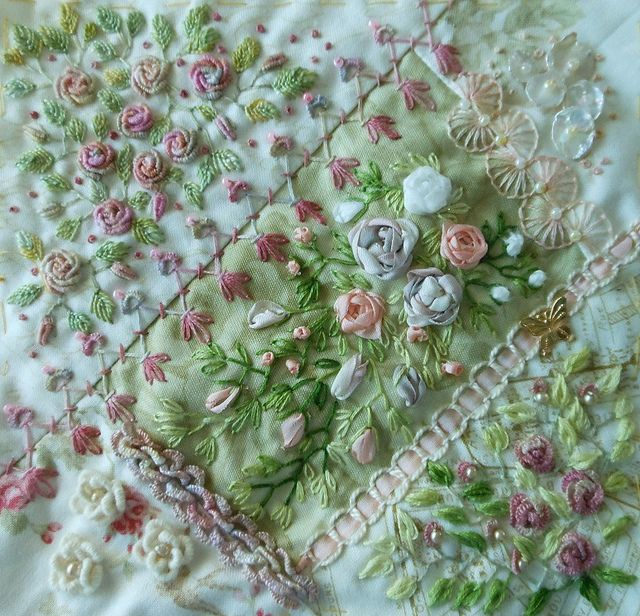 I ❤ crazy quilting, beading & embroidery . . . CQI Encrusted for Rita By peltolaritva