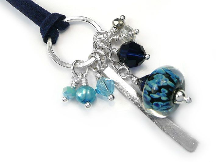 Lampwork Glass Pendant - Moonlight Cluster