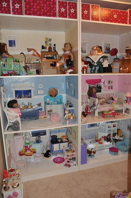 American Girl Dollhouse by five4gena, via Flickr