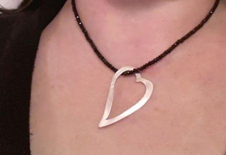 gümüş kalp kolye