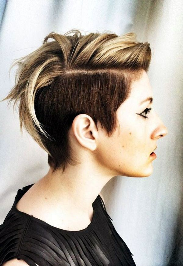 Ladies who have oval-shaped face, it is must for them to try this hair look of short hair Mohawk: 45 Voguish Mohawk Hairstyles for Women