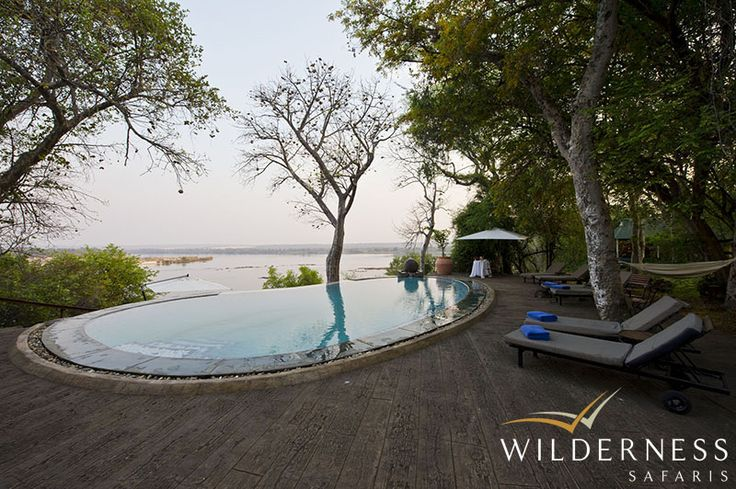 The River Club -  The swimming pool with is infinity aspect provides one of the best views from any pool in the world. #Safari #Africa #Zambia #WildernessSafaris
