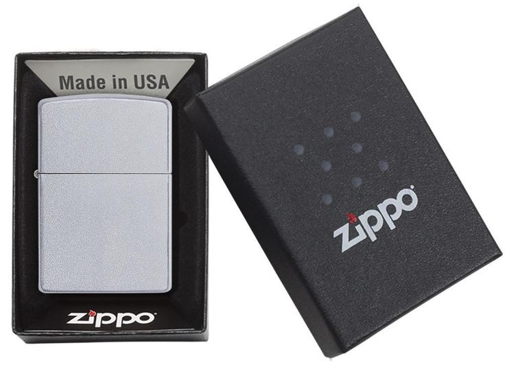 Zippo's Classic Satin Chrome lighter has a refined look that makes this lighter a classic gift. Satin Chrome Zippo Lighter. Lighter comes unfilled. Refillable for a lifetime of use; for optimum performance, we recommend genuine Zippo premium lighter fluid, flints, and wicks. | eBay!