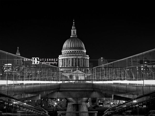 St Paul's Cathedral, London | by david gutierrez [ www.davidgutierrez.co.uk ] The Millennium Bridge, officially known as the London Millennium Footbridge, is a steel suspension bridge for pedestrians crossing the River Thames in London, linking Bankside with the City of London. It is sited between Southwark Bridge and Blackfriars Railway Bridge.