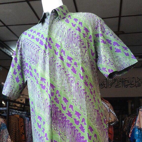 Kemeja Katun Gradasi, motif Jahe, harga Rp 140.000