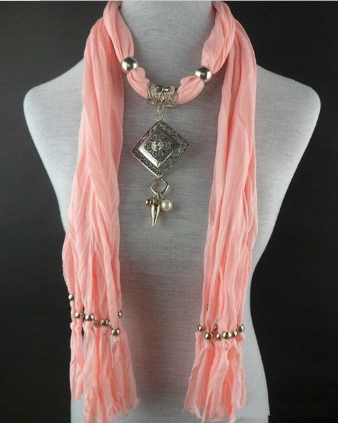 66 best wholesale pendant scarves images on pinterest scarfs 2013 autumn ligth pink jewelry scarves with beaded necklace wholesale aloadofball Choice Image