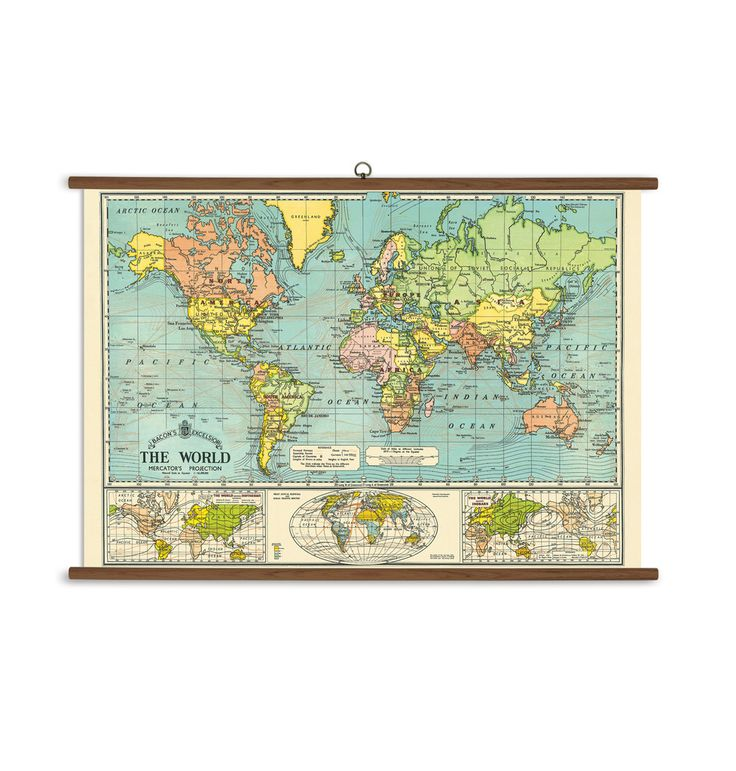 Prachtige vintage schoolplaat die geweldig zal staan op school, een werkplek en in ieder interieur. Een echte eyecatcher voor aan de muur. De schoolplaat is gemaakt van zeer dik Italiaans papier, en wordt geleverd met een compleet ophangsysteem. Deze is gemaakt van duurzaam verkregen hout.Formaat: 70 x 100 cm. #cavallini #schoolplaat #wereldkaart