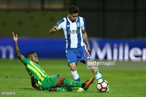 Porto's Brazilian defender Alex Telles ® vies with……... #portotaverna: Porto's Brazilian defender Alex Telles ® vies with……… #portotaverna