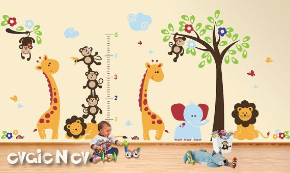 This Safari Wall Decals theme is one of very popular in our collection of Jungle Wall Decals and Nursery Wall decals including all favorite Monkeys