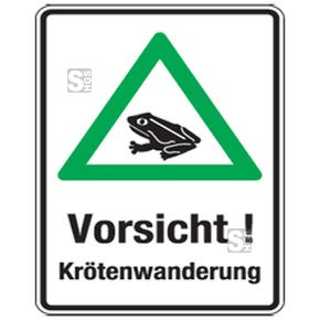 Krötenwanderung 2015: Umweltschutzschilder retten Amphibien  #Amphibienwanderung #Hinweisschilder #Kroetentunnel #Kroetenwanderung #Kroetenzaeune #Umweltschutz #Verkehrszeichen