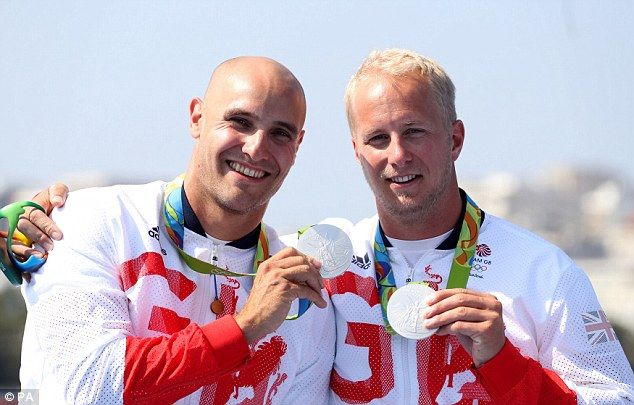 Jon Schofield (right) and Liam Heath have won kayak silver at the Rio Olympics