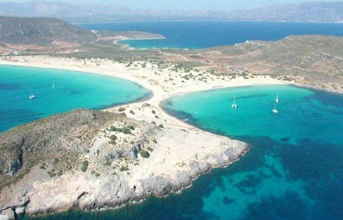 Elafonisos l'isola il suo panorama mare e spiaggia Elafonissos Grecia