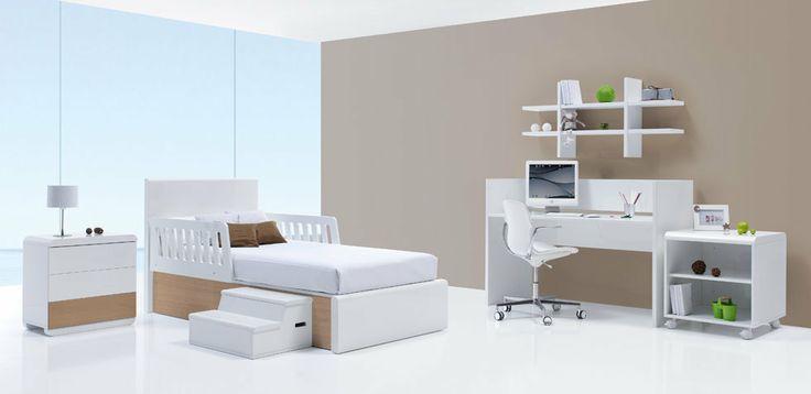 La cuna de tu hijo se puede convertir en un dormitorio juvenil compuesto de cama 90x200 cm - Mesa escritorio con ruedas ...