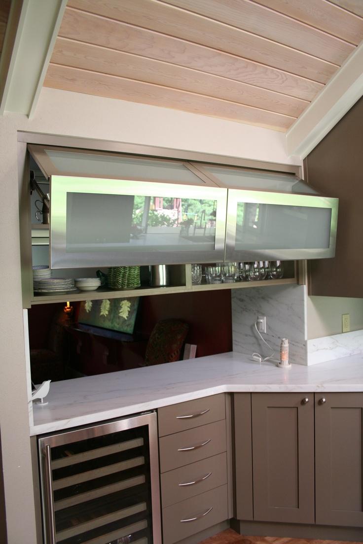 Three posts lamantia coffee table with lift top amp reviews wayfair - Gentry Door Style With Mushroom Paint Metaldoors Designer Jennifer Rogers Bkc Kitchen